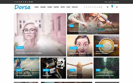 Dorsa is a magazine style WordPress multipurpose theme