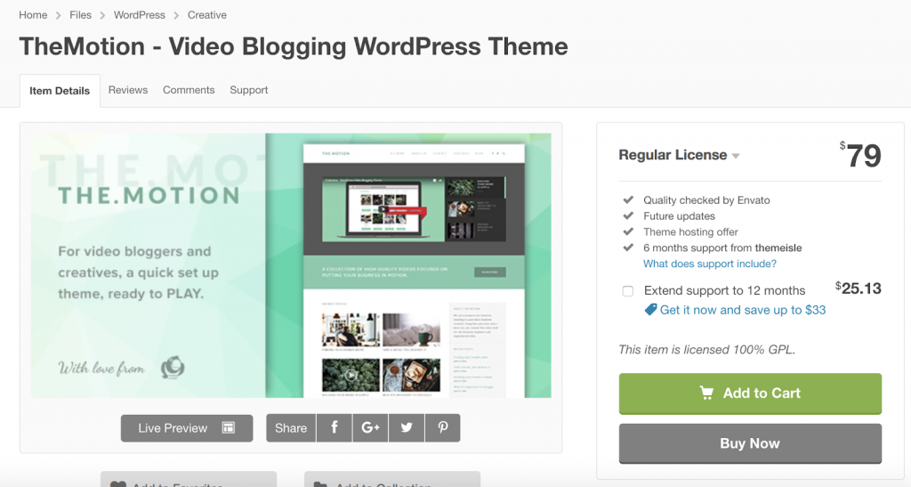 TheMotion Video Blogging WordPress Theme
