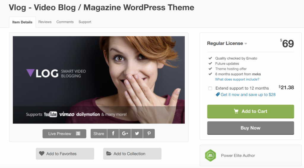 Vlog is a video theme built for blog and magazine content.